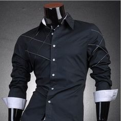 Designer Cross Line Dress Shirt  Gender: Men Item Type: Dress Shirt Material: Cotton Collar: Turn-down Collar Sleeve Length: Full Shirts Type: Dress / Casual  $34.99 New Zealand Dollars Each With Free Worldwide Shipping.