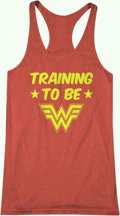 Training to be Wonder Woman - Workout Tank Top Comic Book Gym Crossfit Barbell Beachbody Muscle Flex Vest Shirt Top Yoga Barre Gym Shirts, Workout Shirts, Fitness Shirts, Fitness Wear, Fitness Tips, Workout Clothing, Fitness Clothing, Woman Fitness, Exercise Clothes