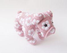 Etsy で見つけた素敵な商品はここからチェック: https://www.etsy.com/jp/listing/264773246/crochet-dog-toy-amigurumi-african-flower
