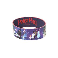 Disney Peter Pan Stills Rubber Bracelet | Hot Topic ($5.60) ❤ liked on Polyvore featuring jewelry, bracelets, rubber bracelets, disney, disney jewellery, disney jewelry, rubber bangles and peter pan jewelry