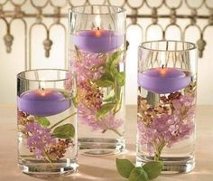 Lovely idea for table settings for a tea party, light luncheon or for spring decorating. Lovely idea for table settings for a tea party, light luncheon or for spring decorating. Bougie Candle, Table Centerpieces, Table Decorations, Spring Decorations, Creation Deco, Beautiful Candles, Floating Candles, Floating Flowers, Deco Table