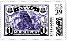 Timbre 'Muggle Post'.                                                                                                                                                                                 Plus