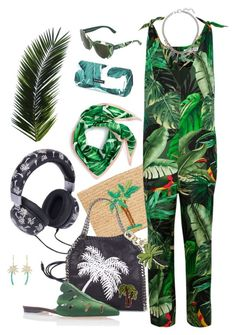 """Palms. 🌴🌴🌴"" by fieldnotes ❤ liked on Polyvore featuring Dolce&Gabbana, Hat Attack, MaxMara, STELLA McCARTNEY, Tory Burch, Marc Jacobs, Jennifer Meyer Jewelry, Charlotte Olympia and Echo"