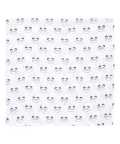 Another great find on #zulily! 46'' x 46'' Black Panda Muslin Swaddling Blanket #zulilyfinds