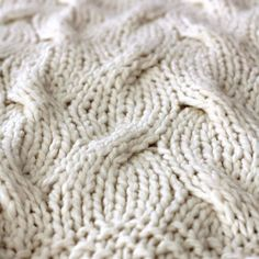 chunky cable knit throw