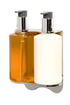 Soap and gel dispensers (just like in hotels). Keep your bath or shower free of bottles and save money on refills with any soap of your choice
