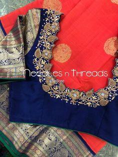 Uppada saree with handwork designer blouse whatsapp 9047090885 tanvika sarees - Her Crochet Cutwork Blouse Designs, Wedding Saree Blouse Designs, Pattu Saree Blouse Designs, Fancy Blouse Designs, Blouse Neck Designs, Hand Work Blouse Design, Stylish Blouse Design, Designer Blouse Patterns, Indian Embroidery Designs