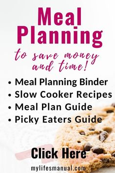 Grab the meal planning binder, 31 slow cooker recipes, and the meal planning guide for busy moms with picky eaters! Get started with meal planning today so you can save a lot of time, cut your budget, and handle your picky eaters with less stress! #mealplanning #mealplan #mealprep #pickyeaters #food #slowcooker #recipes #mealplanningbinder