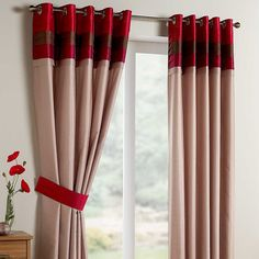 Texas Lined Eyelet Curtains