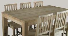 Tolppajalkainen ruokapöytä 230x105, tervaleppää 999,- (1490,-) II-laatu, Petikko Vantaa. #juviproduction