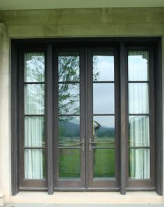 replace existing french doors with these??   CUSTOM WOOD WINDOWS by CWM WOODWINDOWS: Custom Bronze Clad Wood Windows and Doors from CWM Woodwindows