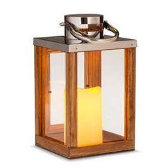 Threshold™ Medium Lantern with LED Candle