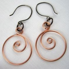 Zen spiral hoop earrings how to by Rena Klingenberg.  #Wire #jewelry #Tutorials