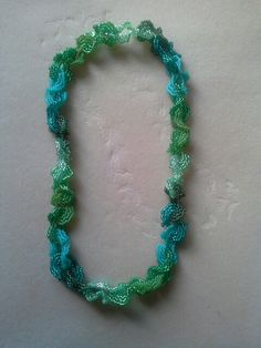 Green Ruffle necklace