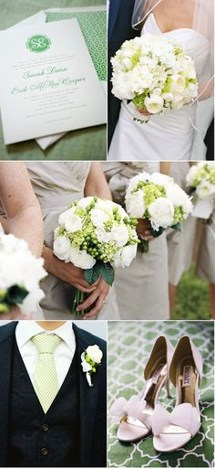 Love these white and green bouquets that were designed for one of our Eastern Shore weddings.