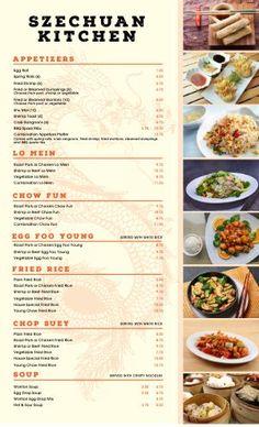 Chinese Menu Templates - Easy to Customize - MustHaveMenus Resturant Menu, Restaurant Menu Design, Chinese Restaurant, Chinese Food Menu, Thai Food Menu, Menu Card Design, Food Menu Design, Food Menu Template, Menu Templates