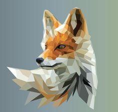 Polyfox Digital via /r/Art. Fuchs Illustration, Art And Illustration, Geometric Fox, Geometric Tattoos, Fuchs Tattoo, Polygon Art, Fox Art, Illustrations, Art Plastique