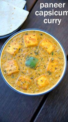 Capsicum Recipes, Veg Recipes, Spicy Recipes, Kitchen Recipes, Indian Food Recipes, Vegetarian Recipes, Cooking Recipes, Healthy Recipes, Vegetarian Curry
