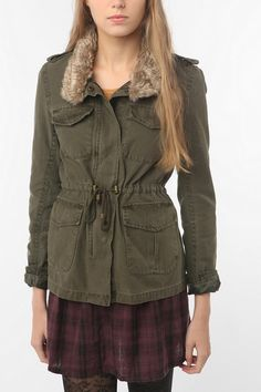 Levi's Blanket-Lined Field Jacket in Olive $129