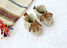 Moccasin Style Baby Booties
