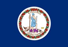 Find details and a picture of the Virginia Flag. Virginia flag proudly represents Virginia's love of freedom. Us States Flags, U.s. States, United States, Arctic Monkeys, Laos, Sic Semper Tyrannis, Elodie Frégé, Flag Coloring Pages, American Flag
