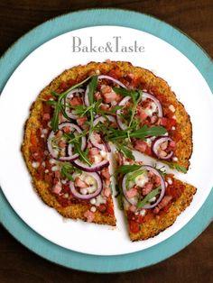 Bake&Taste: Pizza z kalafiora - bez mąki / bezglutenowa : Lutowe Wyzwanie Blogerek i Blogerów