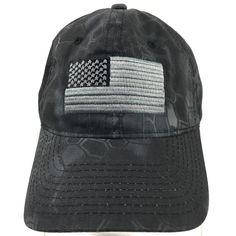 Kryptek Typhon American Flag Gray Baseball Cap Hat Adjustable Outdoor Cap #OutdoorCap #BaseballCap