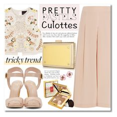 """""""Pretty Pastel Culottes"""" by alialeola ❤ liked on Polyvore featuring TIBI, Needle & Thread, Giuseppe Zanotti, Elizabeth Arden, Chanel, TrickyTrend and culottes"""