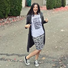 graphic tee, LLR Cassie & low Converse  Need this t-shirt AND the cardi!