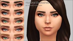 Mod The Sims: Natural Eyelashes -5 colors  by Vampire_aninyosaloh • Sims 4 Downloads