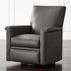 Declan Leather 360 Swivel Recliner at Crate and Barrel Canada. Discover unique furniture and decor from across the globe to create a look you love.