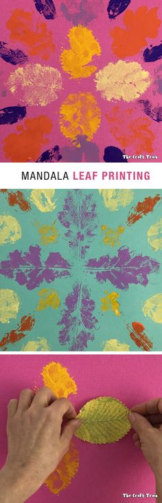 Create vibrant mandala patterns with this simple leaf printing technique