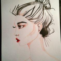 Fashion drawing. Promarkers vs me round xxxxx