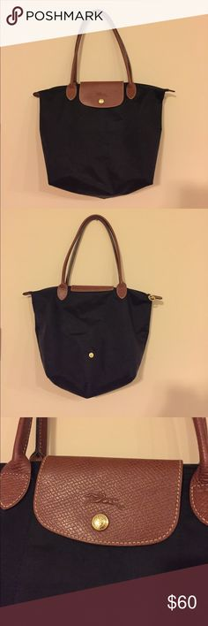 Small Le Pliage Shoulder Tote Purchased on posh in almost brand new condition, only used a couple times. In great condition, just don't need it for college. Longchamp Bags Totes