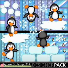 Dancing Penguins DIgital Scrapbook Kit now live at My Memories! http://www.mymemories.com/store/display_product_page?id=SESA-CP-1402-52976&r=syrenasscrapart