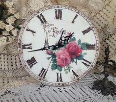 Часы для дома ручной работы. Ярмарка Мастеров - ручная работа Настенные часы Париж. Handmade.