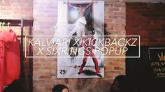A look inside the first collaborative pop up shop from brands @kalviari x @kickbackz x @sixringsclothing