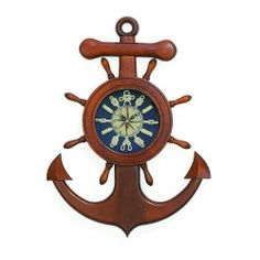 Wood Anchor Ship Wheel Wall Clock with Sailor Knot Numerals, 18-inch, Nautical Home Collection,http://www.amazon.com/dp/B00HSVQNVE/ref=cm_sw_r_pi_dp_Lsoktb1EV8JEPWF8