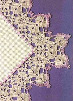 Beautiful Crochet Edging- very antique feeling & for some reason reminds me of Irish Crochet. Filet Crochet, Crochet Picot Edging, Beau Crochet, Crochet Boarders, Crochet Edging Patterns, Crochet Motifs, Thread Crochet, Love Crochet, Irish Crochet