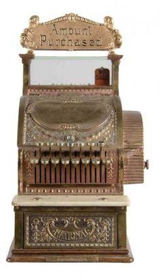 National Cash Register Brass Model 317