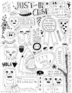Just in case- Doodles for your artsy heart & daily needs!