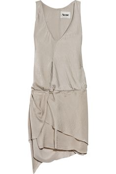 ACNE, SS11 DARLING HAMMERED SATIN MINI DRESS: pretty sure this could be redone in jersey = >