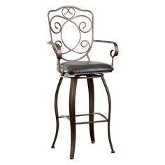 Have to have it. Powell 24-in. Bronze with Muted Copper Scroll Back Counter Height Stool $119.00
