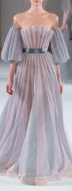 Yulia Yanina Spring 2016 - dress has a sea feel about it. The shape reminds me of a scallop shell.