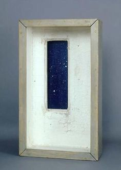 JOSEPH CORNELL, Observatory-Window on Skies, Empty White Room, 1957 Mixed media…