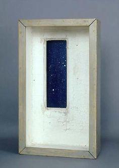 JOSEPH CORNELL, Observatory-Window on Skies, Empty White Room, 1957 Mixed media…