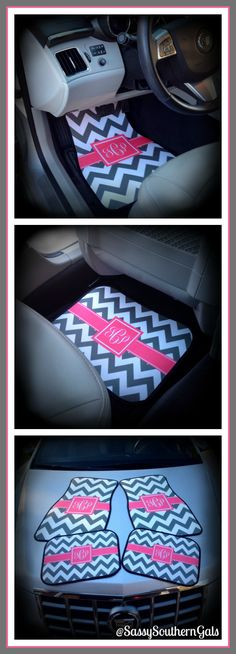 Monogram Gift Idea,  Monogrammed / Personalized Car Mats on Etsy $75.00 www.sassysoutherngals.etsy.com