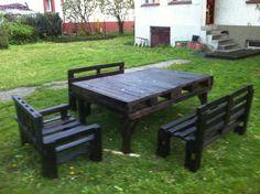 Pallet Garden Furniture #Furniture, #Garden, #Pallets