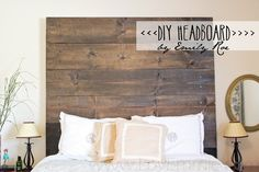 "DIY Rustic Farmhouse Headboard. This project is inexpensive and easy! ""Love, Emmie"": DIY Headboard {Project Pretty}"