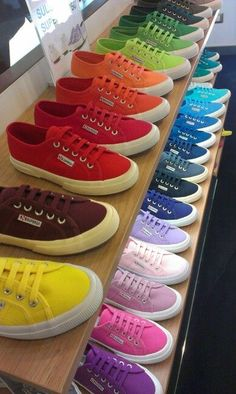 Superga shoe rainbow!